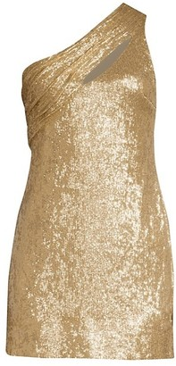 Rachel Zoe Magda One-Shoulder Metallic Mini Dress