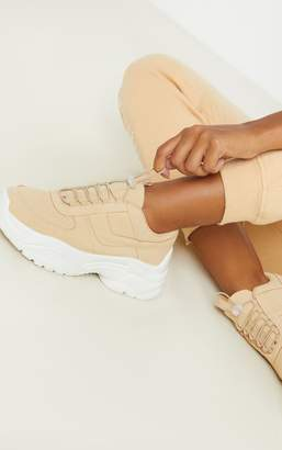 PrettyLittleThing Sand High Arch Chunky Sole Trainer