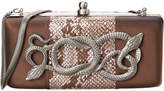 Inge Christopher Bette D Leather & Silk Clutch