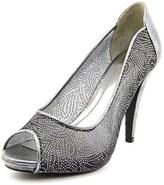 Style&Co. Style & Co Naveah Women Peep-toe Synthetic Silver Heels.
