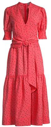 Rebecca Vallance Holliday Polka Dot Midi Dress