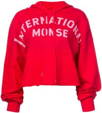 Monse cropped International hoodie