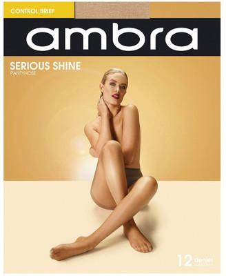 Ambra Serious Shine Control Brief Pantyhose Natural