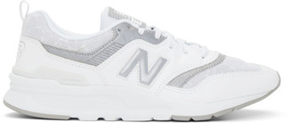 New Balance White and Silver 997H Sneakers