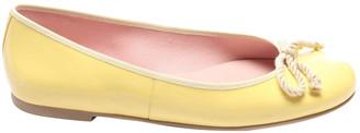 Pretty Ballerinas Yellow Leather Flats