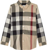 Burberry Camber cotton long-sleeved shirt 4-14 years