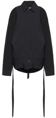 Chalayan Oversized Draped Crepe And Gabardine Jacket