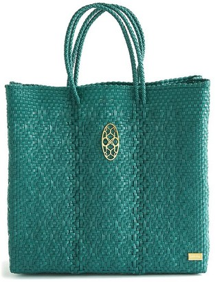 Lolas Bag Medium Turquoise Tote Bag