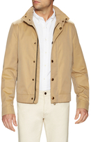 Burberry Leather Trim Bomber Jacket