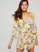Dotti Pretty Floral Tie Up Playsuit