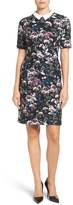 Ivanka Trump Contrast Collar Floral Shirtdress