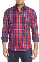 Stone Rose Men's Slim Fit Dobby Plaid Sport Shirt