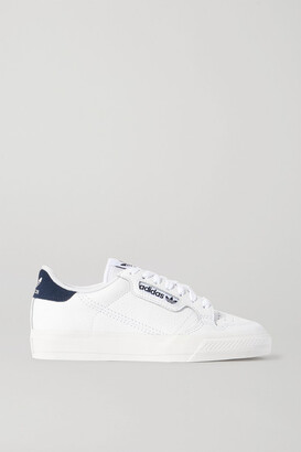 adidas Continental 80 Suede-trimmed Textured-leather Sneakers - White