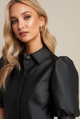 Linn Ahlborg X NA-KD Puff Sleeve Button Dress