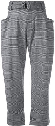 Proenza Schouler Checkered Dropped Waist Trousers