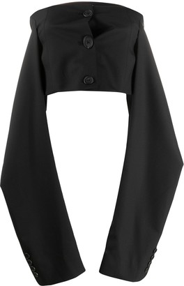 Delada Hanging Sleeve Cropped Top