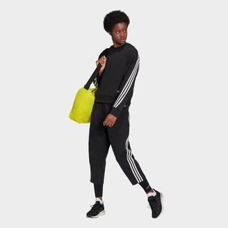 adidas Women's Sportswear Z.N.E. Wrapped 3-Stripes Cropped Pants