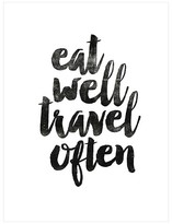 Art.com Eat Well Travel Often 2 by Brett Wilson Unframed Wall Art Print