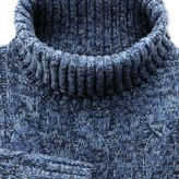 Charles Tyrwhitt Blue mouline roll neck jumper