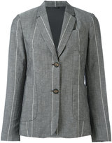 Brunello Cucinelli striped blazer - women - Silk/Linen/Flax/Acetate/Virgin Wool - 42