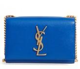 Saint Laurent 'Small Monogram' Crossbody Bag - Blue