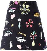 Moschino multi-print mini skirt