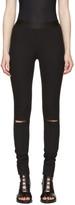 Ann Demeulemeester Black Knee Slit Trousers