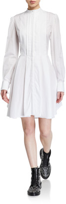 Alexander McQueen Pleated Poplin Shirtdress