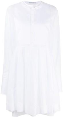 Ermanno Scervino Smocked Pleat-Panelled Dress