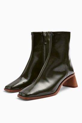 Topshop CONSIDERED VENICE Vegan Khaki Boots