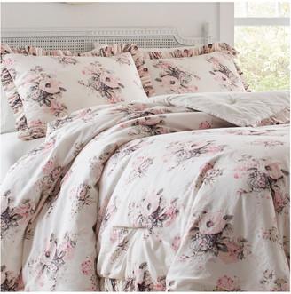 Laura Ashley Viola Light Beige Comforter/Sham Set