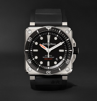 Bell & Ross Diver Type Automatic 42mm Stainless Steel And Rubber Watch, Ref. No. Br0392-d-bl-st/srb