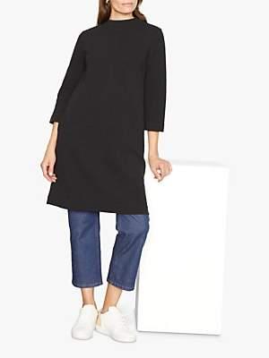 Jigsaw Ottoman Jersey Dress, Black