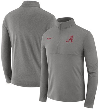 Nike Men's Heathered Gray Alabama Crimson Tide Core Half-Zip Pullover Performance Jacket