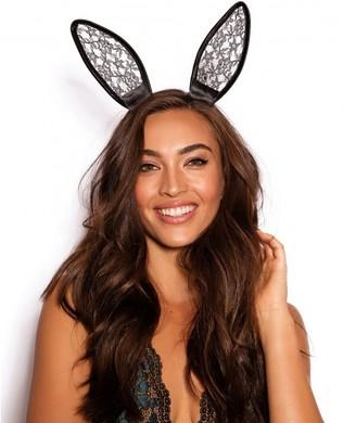 Bras N Things Bunny Play Headband - Black