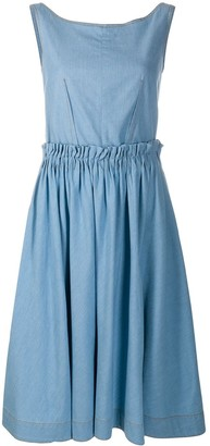 Marni A-line chambray dress