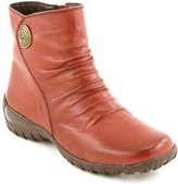 Comfortiya Women's Lucy Leather Casual Low Heel Pleated Ankle Boot Size 38 M EU / 7-7.5 M US