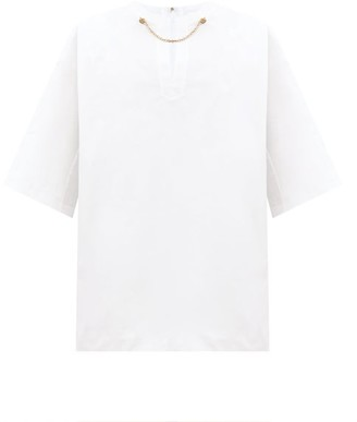 Givenchy Chain-embellished Cotton Shirt - White