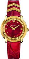 Versace Women's DV25 Round Lady VAM02 0016 Blue / Yellow / Gold/ Red