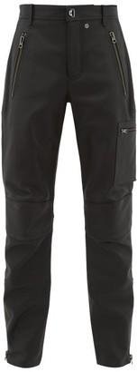 Acne Studios Ladon Panelled Leather Biker Trousers - Mens - Black