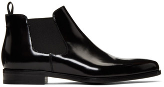 Prada Black Low Chelsea Boots