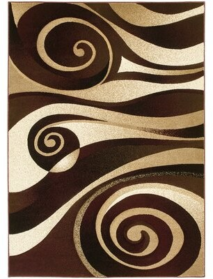 Red Barrel Studioâ® Flitwick Burgundy Area Rug Red Barrel StudioA Rug Size: 8' x 11'