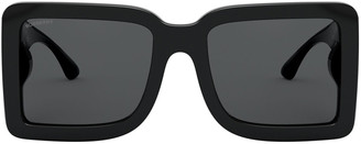 Burberry Logo Oversized Square-Frame Acetate Sunglasses