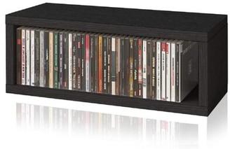 Ebern Designs Stackable Media Shelves Color: Black