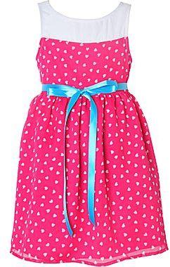 JCPenney Pinky Heart-Print Chiffon Dress - Girls 4-6x