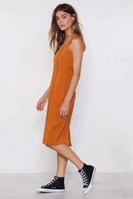 Nasty Gal Womens Middle Ground Midi Dress - Orange - 6, Orange