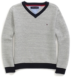 Tommy Hilfiger Contrast Trim V-Neck Sweater