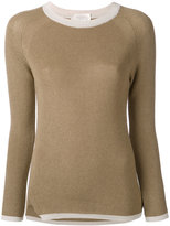 Zanone contrast neck sweater - women - Cotton/Viscose - 40