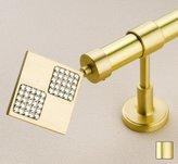WinarT USA 8.1035.20.03.240 Hera 1035 Curtain Rod Set -.75 in. - Matte Brass - 94 in.
