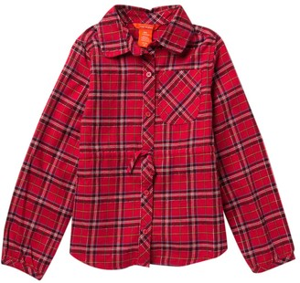 Joe Fresh Plaid Long Sleeve Top (Big Girls)